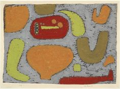 """Paul Klee. Intoxication (Im Rausch). 1939. Pigmented paste on tracing paper on board. 16 1/8 x 21 3/4"""" (41 x 55.2 cm). Gift of Gertrud A.…"""