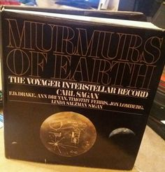 MURMURS OF EARTH. CARL SAGAN. 1ST EDITION