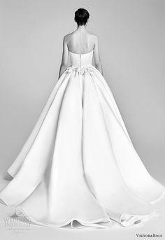 viktor and rolf spring 2018 bridal strapless sweetheart embellished neckline ball gown wedding dress (1) bv train romantic -- Viktor