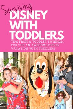 Planning a trip to Disney World with toddlers? Learn the best tips and tricks from a twinmom on how to have the best vacation in Disney World with toddlers. These are the must-do and must-know Disney hacks to survive your trip with toddlers (and/or twins). Taking a bunch of little kids to Disney might seem daunting, but it is totally doable if you follow a few key tips. Find out how we totally rocked our trip to Disney World with toddlers. #momlife #twinmom #travelwithkids #disneytips…