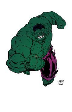 #Hulk #Fan #Art. (Hulk colouring) By: Mike Walls (Art) By: Nicholasgentile. (THE * 3 * STÅR * ÅWARD OF: AW YEAH, IT'S MAJOR ÅWESOMENESS!!!™)[THANK Ü 4 PINNING!!!<·><]<©>ÅÅÅ+(OB4E)