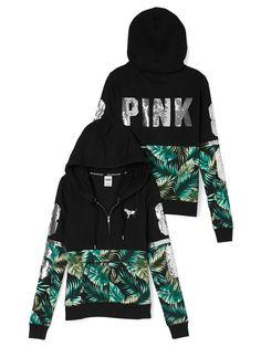 Bling Perfect Zip Hoodie - PINK - Victoria's Secret