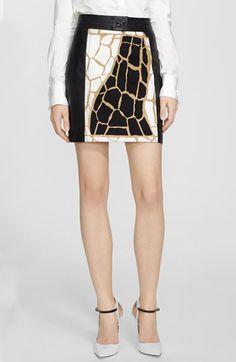 Rachel Zoe 'Shane' Giraffe Print Miniskirt available at #Nordstrom