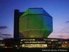 Belarus National Library. Doet me denken aan dat cubehotel waar we altijd gingen skiën