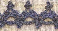 """Modello Crochet: """"pizzo"""" - maomao - I corone blue"""
