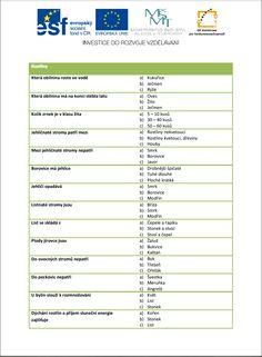 Test rostliny :: ZŠ a MŠ Olešná