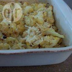 Foto recept: Bloemkool met Parmezaanse kaas