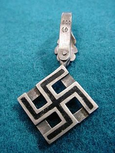 Nazi Party Necklace in .800 Silver