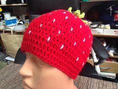 strawberry-hat in crochet by steficrochetideas on Etsy