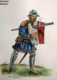 15th century handgunner