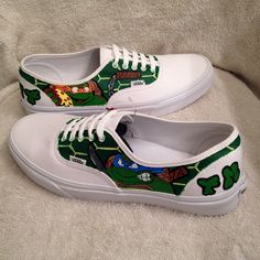 Teenage Mutant Ninja Turtles custom Vans WHITE by KivadenoCustoms