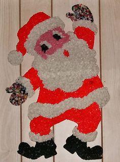 Vintage 1970's Popcorn Art Santa Claus   Flickr - Photo Sharing!