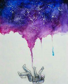 Falling astronaut