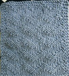 Like the chevron pattern, but a little much for me to think about with mindless dishcloth knitting