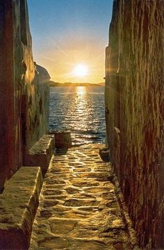 After seeing this, I want to follow the cobble stones and walk into the water! - Myconos, Greece