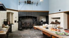 The great kitchen at Tredegar House