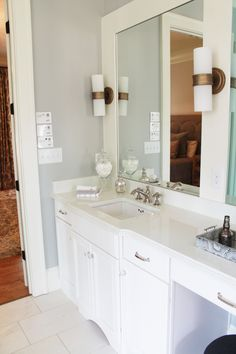 Ariel Silestone Quartz Bathroom Countertops in 2015 GBAHB Ideal Home installed by Surface One of Birmingham. Quartz Bathroom Countertops, Kitchen Countertops, Spanish Bungalow, Parade Of Homes, Guest Bath, Kitchen And Bath, Ariel, Ideal Home, Birmingham