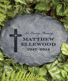 'In Loving Memory' Personalized Garden Stone