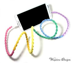 Charger - The Original Wrapped USB Charger For iPhones, Smartphones, Tablets + Apple Watch  - 'She's A Rainbow' By Wrapture Designs