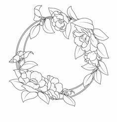Line Art Flowers, Flower Line Drawings, Simple Line Drawings, Art Drawings For Kids, Hand Drawn Flowers, Flower Art, Outline Art, Flower Outline, Outline Drawings