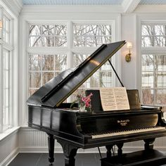 Always wanted a piano room in my house:) This would be beautiful.