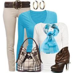 Cute outfit and I love the blue. Great color on me. :)