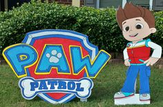ONE 2ft Paw Patrol Cut outs Chase MarshalSkye Rubble