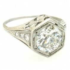 1920 Platinum & Diamond Engagement Ring