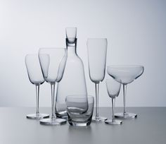 HRUSKA GLASS SET. check out the pictures on how it was developed from sketch to final product.