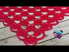 Châle Amour crochet facile / Chal amor tejido a crochet facil - YouTube