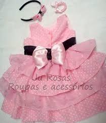 Resultado de imagem para vestido fazendinha rosa