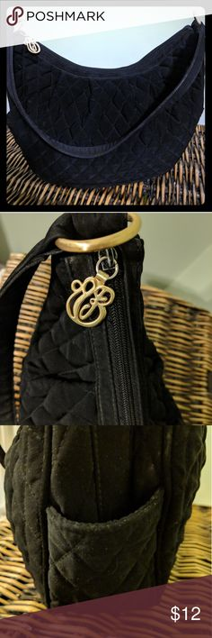 I just added this listing on Poshmark: Vera Bradley Solid Black Shoulder Bag. #shopmycloset #poshmark #fashion #shopping #style #forsale #Vera Bradley #Handbags