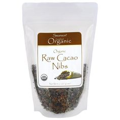 Shop the best Cacao Nibs, Raw Organic - 8 oz bag products at Swanson Health Products. Trusted since we offer trusted quality and great value on Cacao Nibs, Raw Organic - 8 oz bag products. Cacao Benefits, Raw Cacao Nibs, Fresh Dates, Organic Snacks, Organic Chocolate, White Chocolate, How To Make Smoothies, Decaf Coffee, Cocoa Nibs