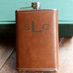 Genuine Brown Leather 8 oz Hip Flask by TheBestManGifts on Etsy, $24.95