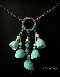 Ceramic Jewelry, Ceramic Beads, Metal Jewelry, Beaded Jewelry, Textile Jewelry, Fabric Jewelry, Polymer Clay Necklace, Fabric Beads, Pendant Design
