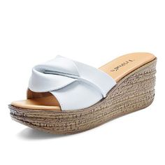 Comfortable leather flower shoes Lady slipper Natalie Choquette with sandals and slippers fashionable thicksoled outdoor shoeB Foot length238CM94Inch *** More info could be found at the image url.