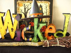 Easily make this w/ the cardboard letters from Jo-Ann's ~ I like that this is different!