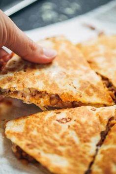 Lentil cheese quesadillas