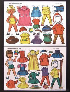 Coleccionismo Recortables: LOTE DE 10 LAMINAS RECORTABLES MUÑECAS EVA 1ª SERIE COMPLETA Nº 831 - 840 AÑO 1963 (TAMAÑO MEDIANO) - Foto 2 - 55122001 Reborn Dolls, Reborn Babies, Baby Dolls, Victorian Dollhouse, Modern Dollhouse, Paper Toys, Paper Crafts, Snow White Disney, Vintage Paper Dolls