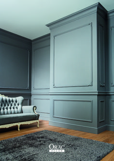 Ideas wall paneling ideas wainscoting dining rooms for 2019 Decor, Interior, Living Room Decor, Trendy Living Rooms, House Interior, Orac Decor, Moldings And Trim, Dining Room Wainscoting, Wainscoting Styles