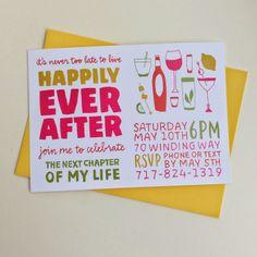 Divorce Party Invitations   Laura Korzon Illustration #paperjane #korzonillustrated
