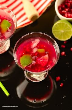 Pomegranate Caipirinha and a Farewell… by From Brazil to You. Brazilian recipe for pomegranate caipirinha to cheer the New Year and attract prosperity.