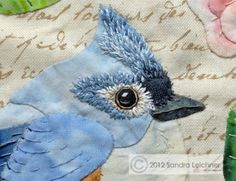 enhancing titmouse's applique with embroidery details