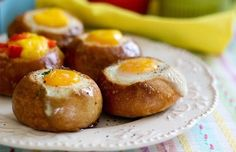 Egg, Bacon and Cheese Breakfast Bread Bowls