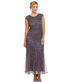 ea025a91bf Pisarro Nights Plus Beaded Godet Dress  Dillards Cocktail Party Outfit