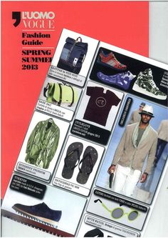 R'Evolution On Fashion Guide - L'Uomo Vogue - Spring Summer 2013  www.akkuaworld.com