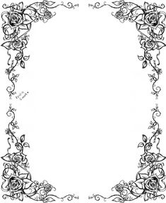DeviantArt: More Like Flower Border by Autumn-frost-angel Boarder Designs, Page Borders Design, Borders For Paper, Borders And Frames, Borders Free, Page Boarders, Calligraphy Borders, Floral Frames, Printable Designs