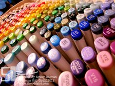 Some Odd Girl's Copic collection!