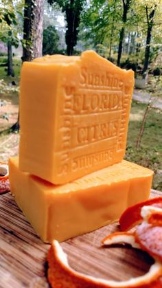 Florida Citrus Sunshine Handmade soap GET THIS SOAP FROM <3 http://www.naturalhandcraftedsoapcompany.com/Handmade-Florida-Citrus-Tangerine-and-Orange-Soap-p/citrus-soap.htm  Tangerine Essential Oil is cold pressed from the fruit of the tangerine tree. In addition, tangerine can be beneficial to the skin, used traditionally to help stretch marks and have a positive effect on cellulite.The aroma is very popular with children, and can have the same relaxing effect as for adults.