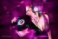 Club can´t handle me    Club, photography, dj, djane, girl, fashion, action, lila, record, headphones, skin